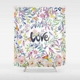 Love flowers Shower Curtain