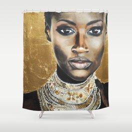 Graceful Ebony Shower Curtain