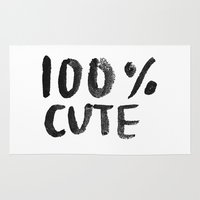 the 100 Area & Throw Rugs featuring 100% Cute by Laurel Mae