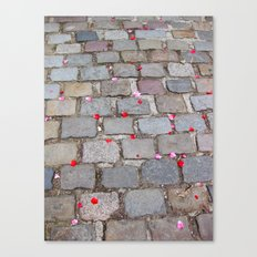 Rose Petals, Parc de Belleville, Paris Canvas Print