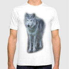 le loup gris SMALL Mens Fitted Tee White