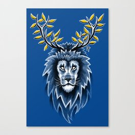 Deer Lion Canvas Print