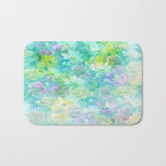 Enchanted Spring Floral Abstract Bath Mat