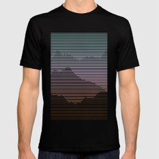 Mountain Ranges Mens Fitted Tee Black SMALL