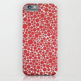 1990 Red Dots iPhone Case