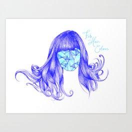 Fab hair colour. By Sarah Clement Art Print