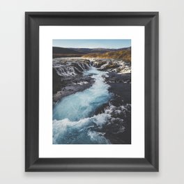 Bruarfoss, Golden Circle, Iceland Framed Art Print