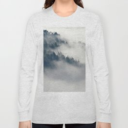 Mountain Fog and Forest Photo Long Sleeve T-shirt