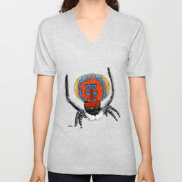 Peacock Spider Unisex V-Neck