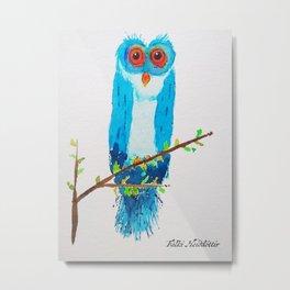 Emmet the Owl Metal Print
