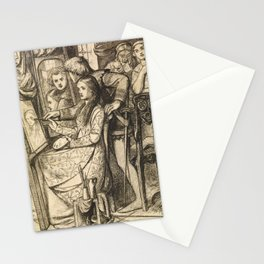 """Dante Gabriel Rossetti """"Love's Mirror or a Parable of Love"""" Stationery Cards"""