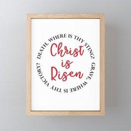 Christ Is Risen Framed Mini Art Print
