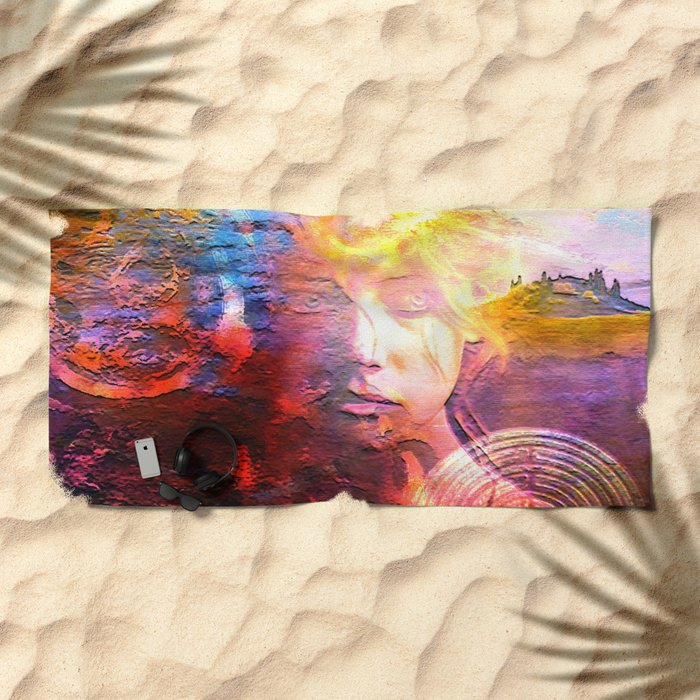 """"""" The truth for the world M. """" Beach Towel"""