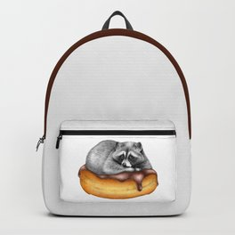 Doughnut Addicted Trash Panda Backpack