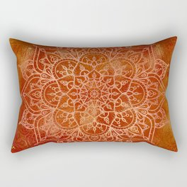 Orange Mandala Rectangular Pillow
