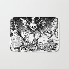 Alice's Dark Tea Party Bath Mat