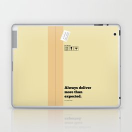 Lab No. 4 - Always Deliver More Than Expected Motivational Typography Quotes Poster Laptop & iPad Skin