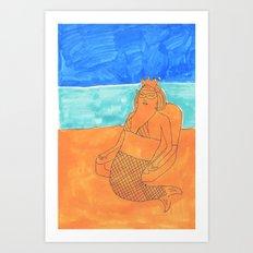 sand queen Art Print