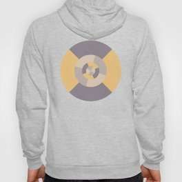 Simple geometric discs pattern yellow and taupe Hoody