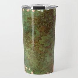 Vintage Green floral Travel Mug