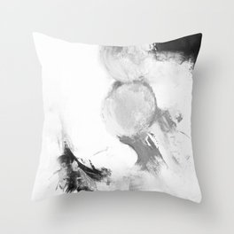 Abstract blur black and white circles monochrome Throw Pillow