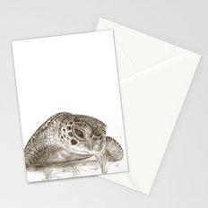 A Green Sea Turtle :: Earthtones Stationery Cards