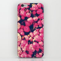 peonies iPhone & iPod Skins featuring Peonies by Sasha H