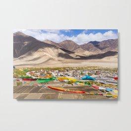 Tibet: Samye monastery & Himalaya Metal Print