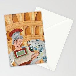 Roman Gladiator Stationery Cards