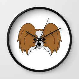 Papillon Dog #society6 #decor #buyart #artprint Wall Clock