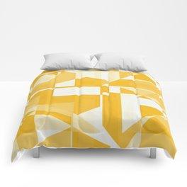 Geometry in yellow Comforters
