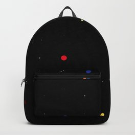 multicolor dots in the night sky Backpack