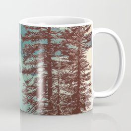 Vintage Blue Crater Lake and Trees - Nature Photography Coffee Mug