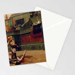 Jean-Leon Gerome - Pollice Verso - Digital Remastered Edition Stationery Cards