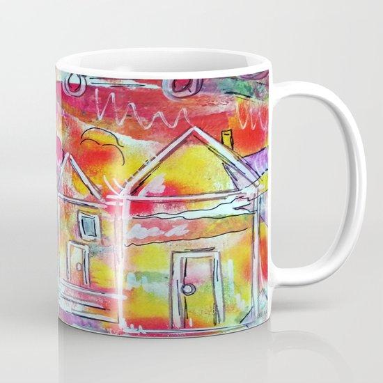 Orange Neon Houses by beachstudio