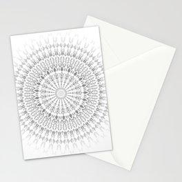 Light Grey White Mandala Stationery Cards