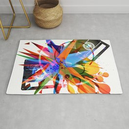 Cassette and different abstract shapes Rug