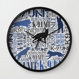 K-9 Unit  -Police Dog Unit Wall Clock