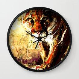 Creepin' Cougar Wall Clock