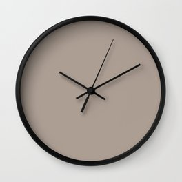 simply taupe Wall Clock