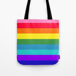 Vibrant Rainbow Stripes Tote Bag