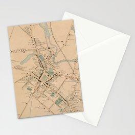 Vintage Map of Morristown NJ (1889) Stationery Cards