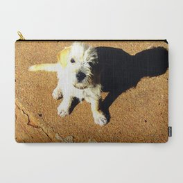 Just A Pup Looking Up Carry-All Pouch
