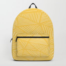 Sunshine Yellow Triangles Drawing Backpack