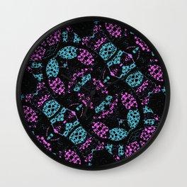 Ornate Dark Pattern  Wall Clock