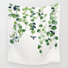 Eucalyptus Watercolor 2  Wall Tapestry