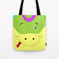 Cute female snake in love children's illustration Tote Bag