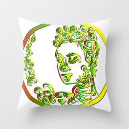 Grenada Queen Goddess Abstract Throw Pillow