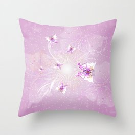 Awesome butterflys  Throw Pillow