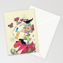Robots in nature Stationery Cards